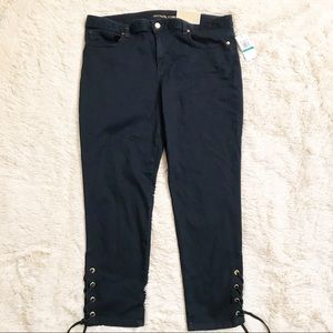 Michael Kors Jeans Dark Wash Cropped Jeans Size 16